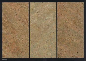 Flexible Schieferplatte Kupfer / Copper, ca. 20 x 30 cm, Musterplatte