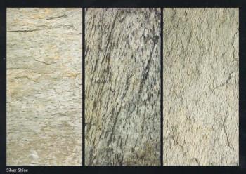 Flexible Schieferplatte Silberglanz / Silver Shine, ca. 20 x 30 cm, Musterplatte