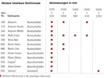 Flexible Schieferplatte 120 x 60 cm  Jeera Grün / Jeera Green