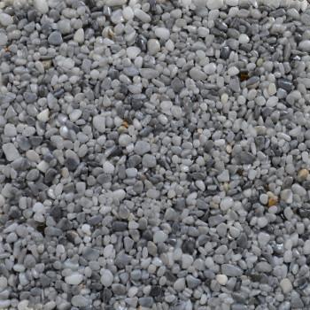 Marmorkiesel Musterplatte Brandung fein 3-5 mm