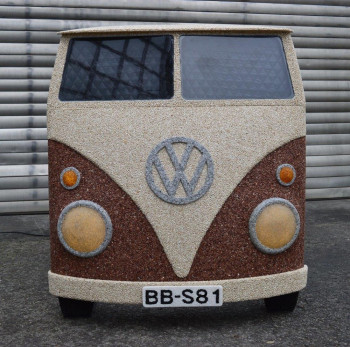 VW Bully Unikat aus Marmorsteinchen