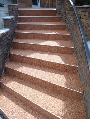 Marmorkiesel Stellstufen für Treppen