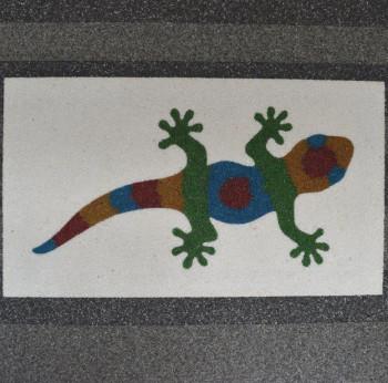 Leuchtbild mit Gecko 114 x 65 x 4 cm
