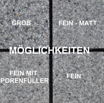 Marmorkiesel Naturgrau mittel 2 - 6 mit Bindemittel S317