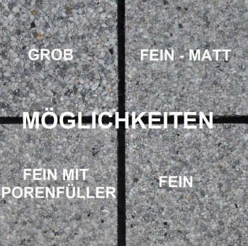 Marmorkiesel Brandung grob 5 - 10 mm, mit 2K EP Bindemittel S140