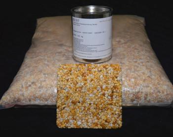 Marmorkiesel Gelb-Weiß grob mit Bindemittel S317