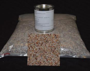 Marmorkiesel Koralle fein mit Bindemittel S317