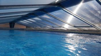 Poolüberdachung 10 x 5 Meter