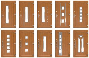 Moderne Haustür Iglo 5 in drei Farben erhältlich ( high quality )