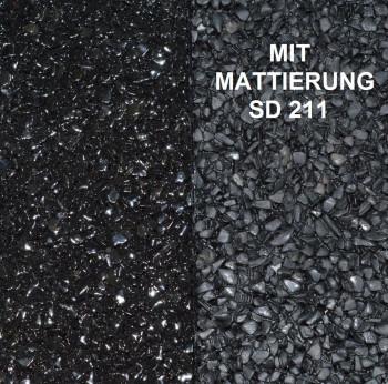 Marmorkiesel Schwarz fein mit Bindemittel S317