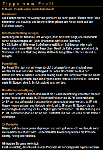 Marmorkiesel Schwarz fein mit 2K EP Bindemittel S140