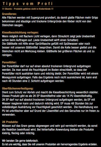Marmorkiesel Schwarz grob mit 2K EP Bindemittel S140