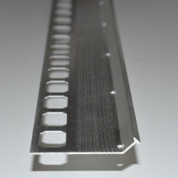 Treppenprofil Aluminium natur 45° zum einspachteln 2500 mm lang