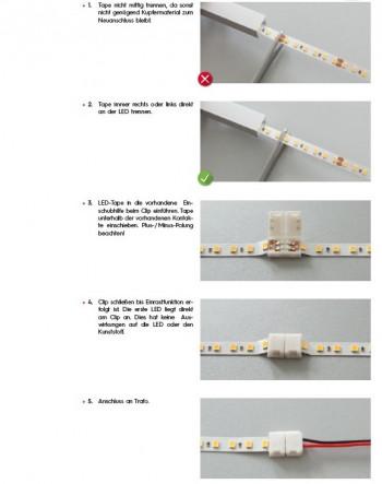 LED-Tape für Feuchträume mit Silikonabdeckung, IP 54, 8 x 2500 mm, neutralweiß