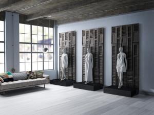 Panel Shutter 291 x 115,4 cm, 4,5 cm dick, 3,36m²