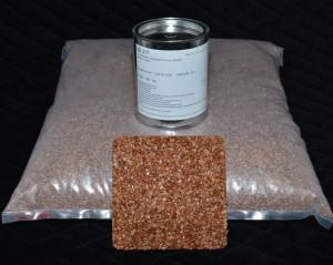 Marmorkiesel Braun fein mit Bindemittel