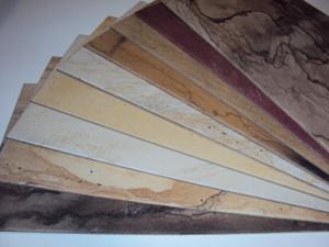 Musterplatten Set auf Trägerplatte 60x30 cm