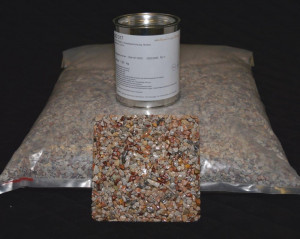 Marmorkiesel Koralle grob mit Bindemittel S317