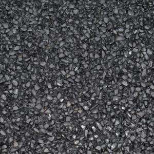 Marmorkiesel Musterplatte Schwarz fein matt