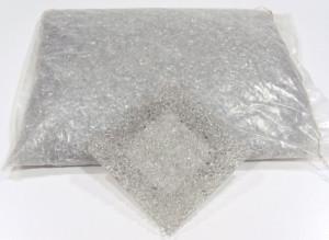 Glaskiesel Silber 2-8 mm