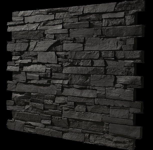 Effektplatte pizarra anthrazit 3d effektw nde kunststeinplatten kunststeine wandverkleidung - Steinwand anthrazit ...