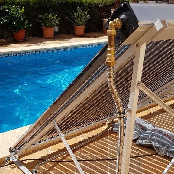 Poolheizung auf Mallorca, Sollartechnick auf Mallorca,